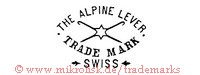 The Alpine Lever / Trade Mark / Swiss (mit Stern)