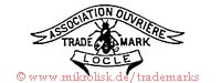 Association Ouvriere / Trade Mark / Locle (mit Banner und Fliege)