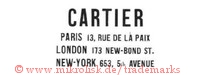 Cartier / Paris 13, Rue de la Paix / London 173 New Bond St. / New-York 653, 5th Avenue