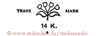 D D D D / Trade Mark / 14 K (wie Blume)