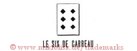Le six de carreau (mit Dominostein und 6 Rauten)