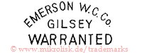 Emerson W.C.Co. / Gilsey / Warranted
