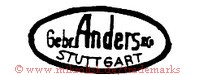 Gebr. Anders & Co. / Stuttgart (im Oval)