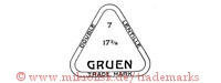 Double Lentille / 7 / 17 2/16 / Gruen / Trade Mark (im Dreieck)