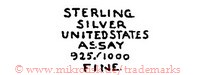 Sterling Silver United States Assay 925/1000 Fine