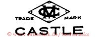 MC / Trade Mark / Castle (ineinander in Raute)