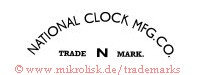 National Clock Mfg. Co. / N / Trade Mark
