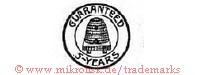 Guaranteed / 5-Years (im Kreis mit Bienenstock)