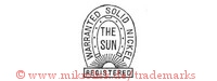 Warranted Solid Nickel / The Sun / Registered (im Hufeisen mit Strahlen)