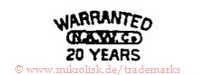 Warranted / N.A.W.Co. / 20 Years