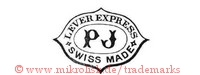 Lever Express / PJ / Swiss Made (im Schild / Oval)