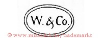 W. & Co. (im Oval)