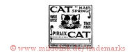 Cat Hair Springs / Marque Deposee / Trade Mark / Spiraux Cat (im Rechteck mit Katzenkopf)
